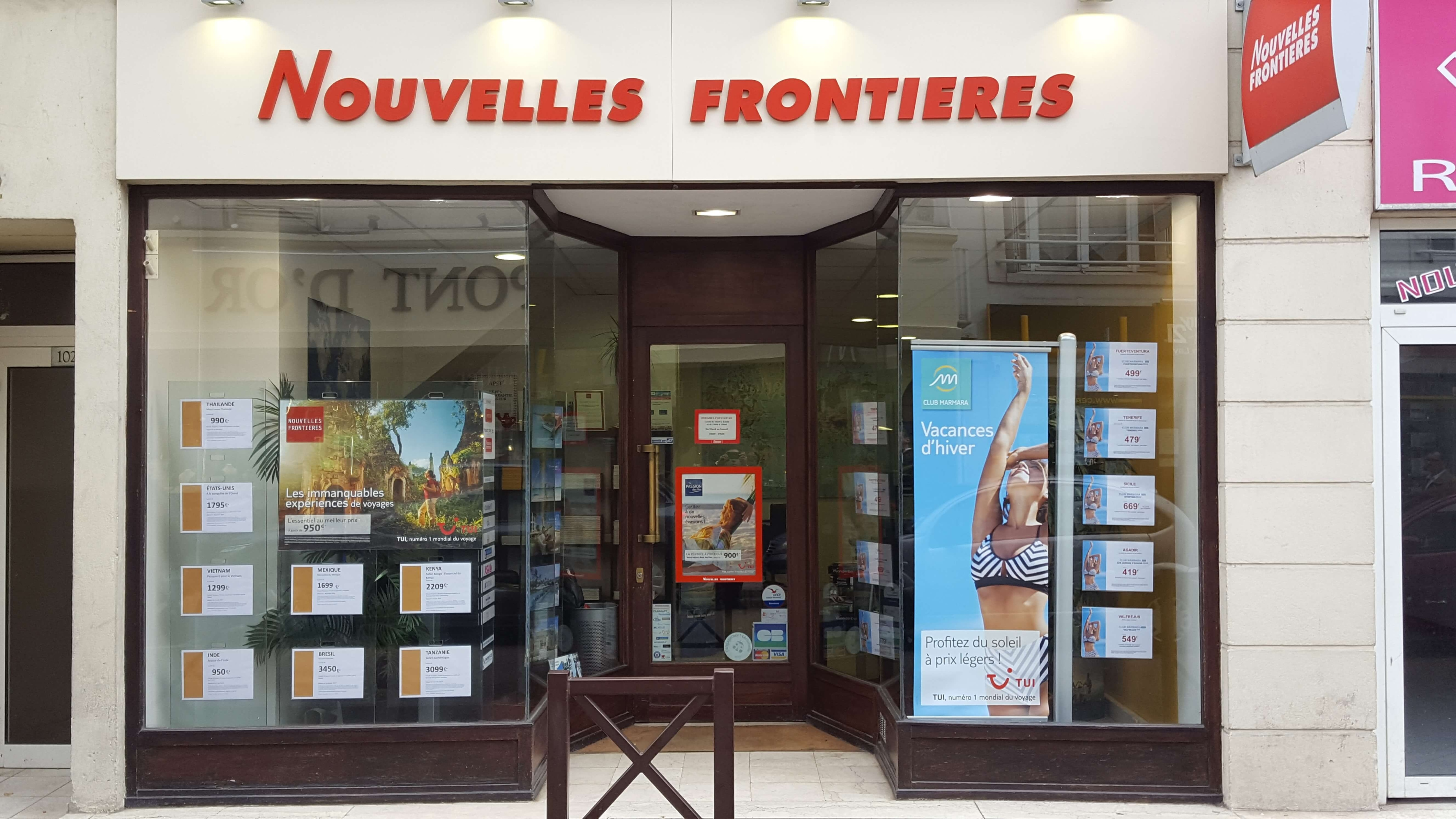 Agence de voyages nouvelles fronti res poissy tui for Agence nouvelle frontiere